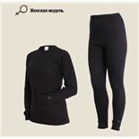 Комплект женского термобелья Laplandic: рубашка + лосины (A51-S-BK / A51-P-BK) (2XL)