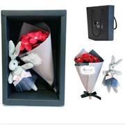 Подарочный набор букет из мыла с игрушкой Best Wishes