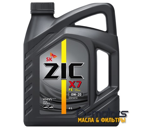 Моторное масло ZIC X7 FE 0W-20 (4л.)