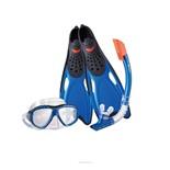 Набор маска,трубка,ласты WAVE MSF-1396S25BF71 силикон (р.38-39)