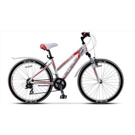 Велосипед Stels Miss-6100 V V010 Белый/Серый/Красный, интернет-магазин Sportcoast.ru