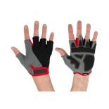 Перчатки для фитнеса SU-117, черные/серые/красные