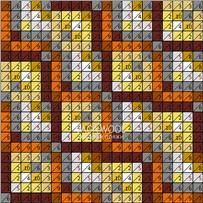 ПЛЕД-КВАДРАТ Оранжево-терракотовый, размер ИДЕАЛ