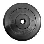 Блин для штанги обрезиненный MB Atlet d-31 10 кг