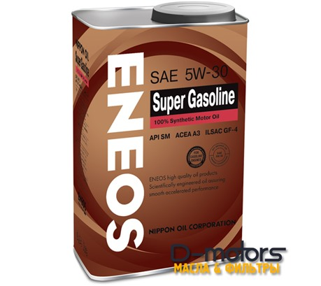 Моторное мало Eneos Super Gasoline 5w-30 100% Synthetic (1л.)
