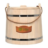 Ведро для бани с крышкой Банные Штучки С легким паром, липа 15 л 31099