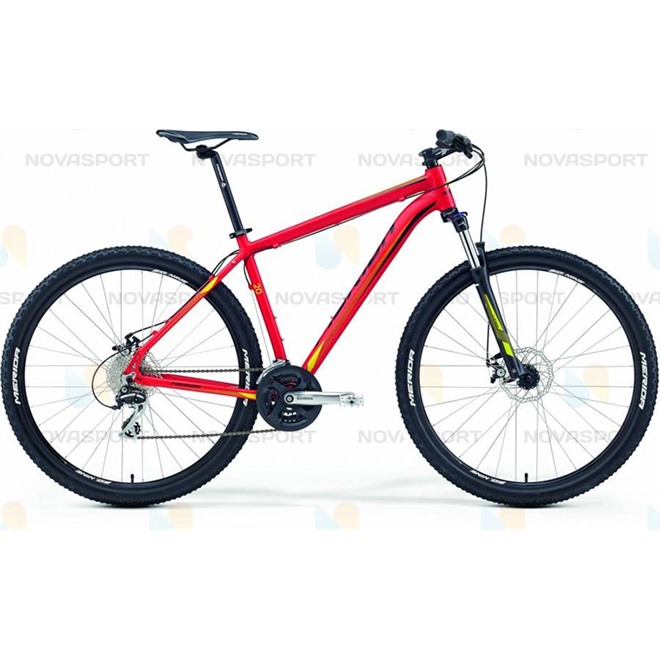 Велосипед Merida Big.Nine 20-MD (2016) Matt Red/Yellow/Black, интернет-магазин Sportcoast.ru