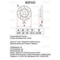 BDF003. Передняя ось. Перфорация + слоты