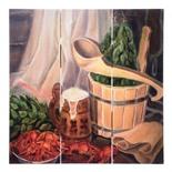 Картина для бани Банные Штучки С лёгким паром 30х30 см 33382