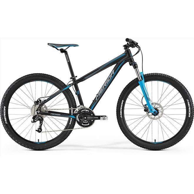 Велосипед Merida Big Seven 70 Matt Black/Blue/Grey (2017) , интернет-магазин Sportcoast.ru