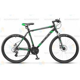 Велосипед Stels Navigator 500 MD 26 (2017) Черный/Зеленый, интернет-магазин Sportcoast.ru