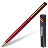 Ручка шариковая Brauberg Slim Burgundy линия 0,7 мм 141403