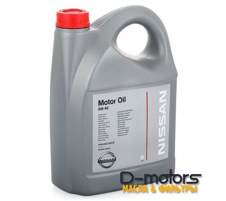 NISSAN MOTOR OIL 5W-40 (5л.)