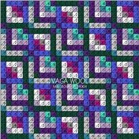 ПЛЕД-КВАДРАТ Фиолетово-зелёный, размер ГИГАНТ